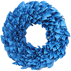 Dazzling Blue Lacquer Wreath