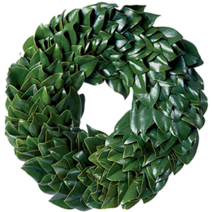 All Green Fresh Magnolia Wreath