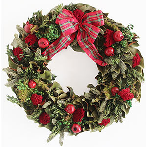 English Holiday Estate Wreath - Dried Naturally