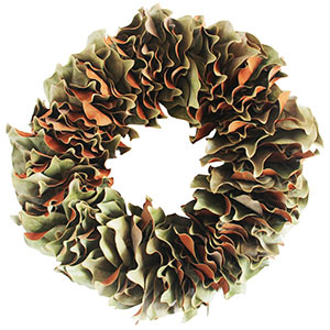All Green Magnolia Wreath - Dried Naturally