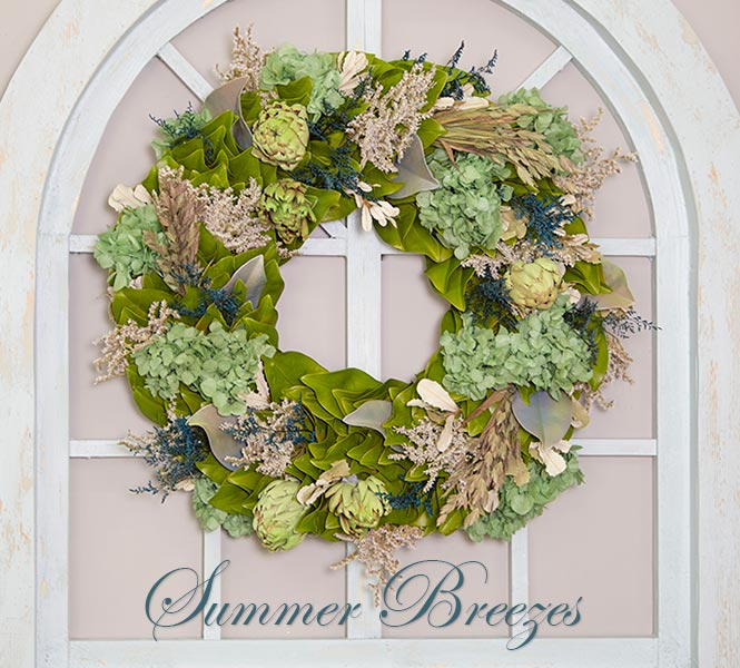 Beyond Breathless Wreath - Summer Breezes