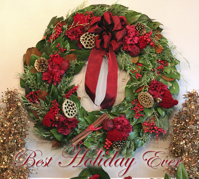 Crimson Red Wreaths