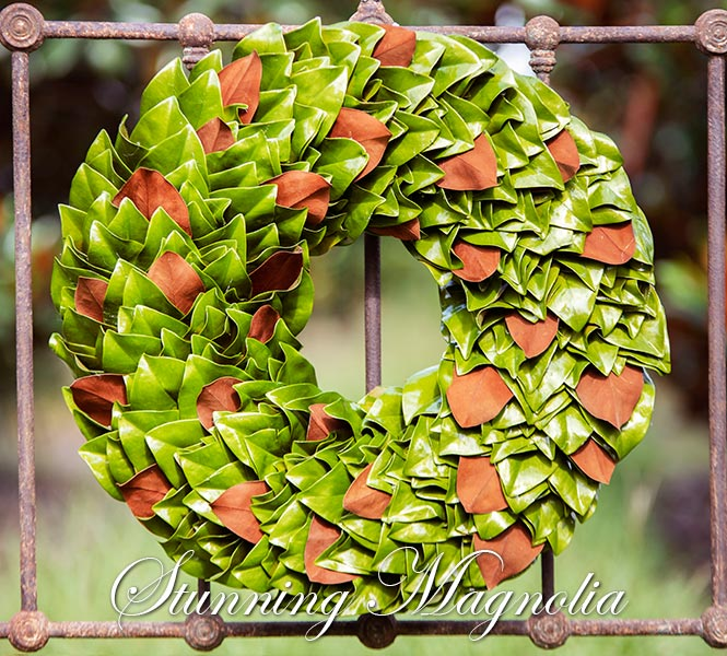 Granny Smith & Copper Wreath on Iron Gate