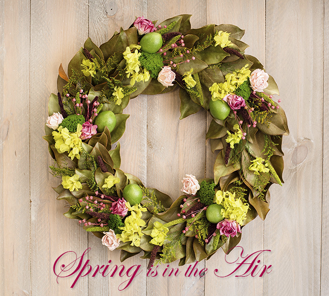 Limes & Roses Wreath - Spring is in the Air