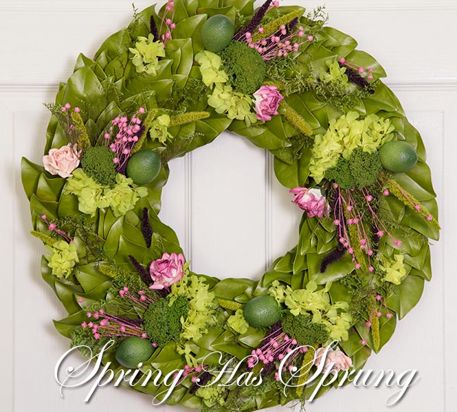 Lime & Roses Dried Wreath - Hello Spring