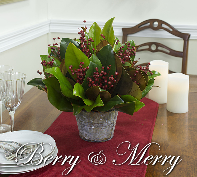 Magnolia & Berry Centerpiece