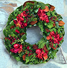 Season's Bounty Holiday Wreath - FMW114