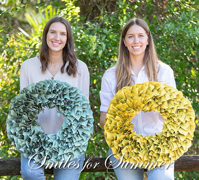 Vibrant Lacquer Wreaths - Smiles for Spring