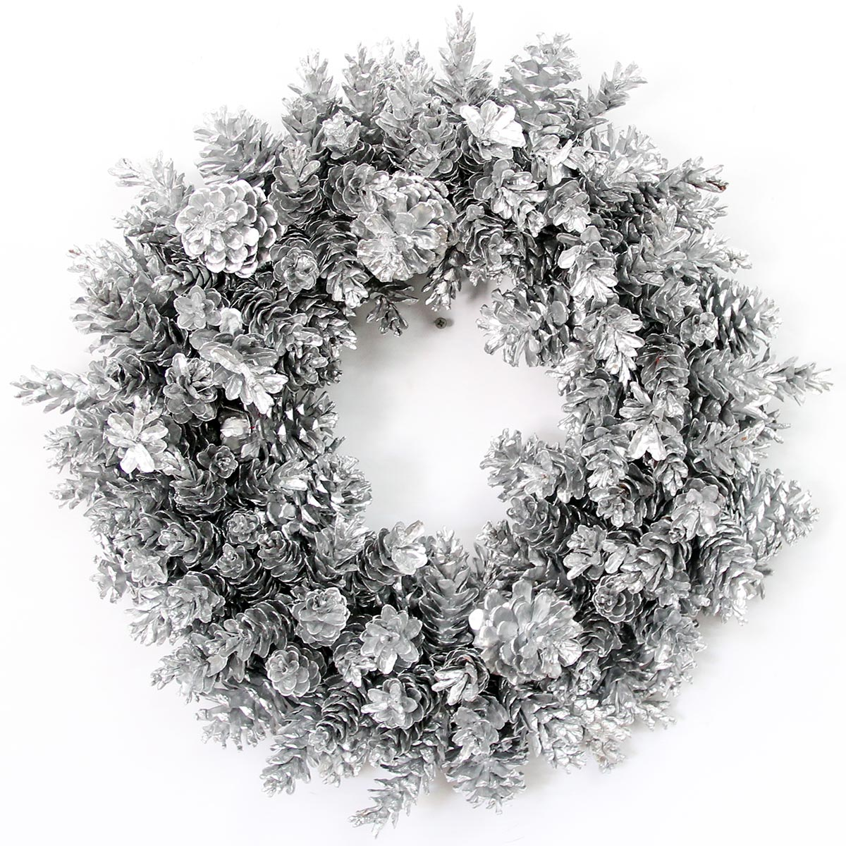 Silver Pinecone Wreath The Magnolia Company